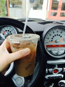 Bone fide American iced coffee.  A routine I still miss dearly.